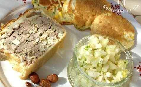 Terrine de canard en croûte, galettes de maïs et salade de fenouil pour pique-nique printanier !