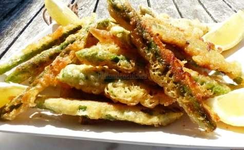 Beignets d'asperges vertes