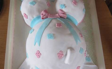 Gâteau femme enceinte pour un baby shower