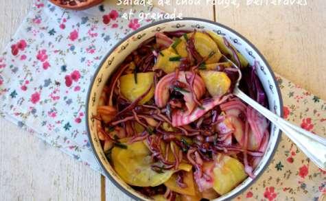 Salade de chou rouge, betteraves et grenade