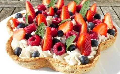 Tarte aux fruits rouges, crème vanillée au mascarpone