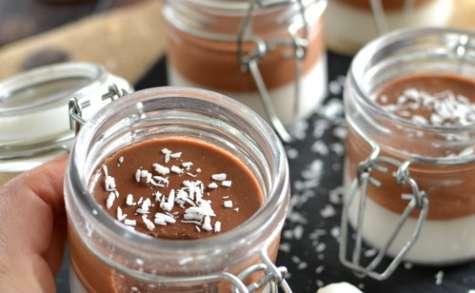 Panna cotta bi-goût coco chocolat