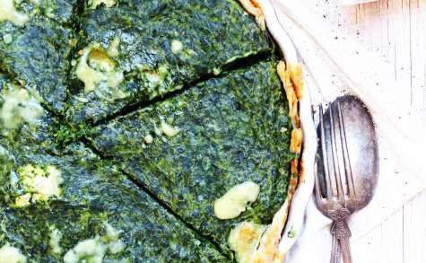 Tarte salée gourmande/croquante aux épinards et Bresse Bleu