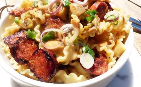 Mafaldine au chorizo et aux champignons