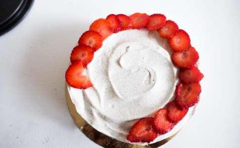 Entremets vanille fraise