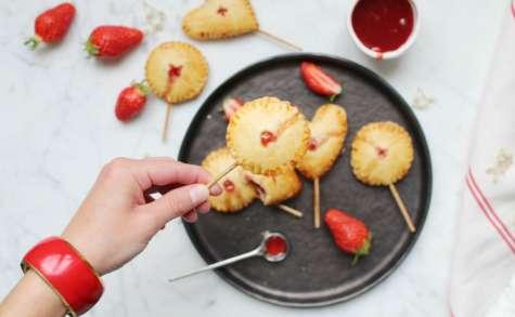 Pie pops à la fraise
