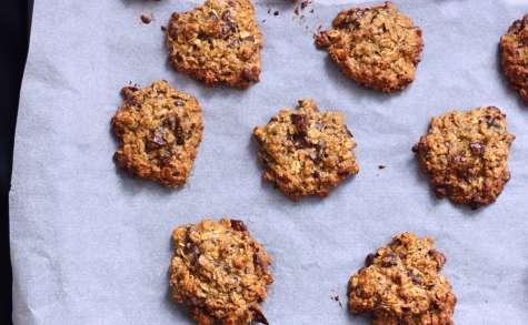 Cookies «sains» à l'avoine, beurre de cacahuète et chocolat noir