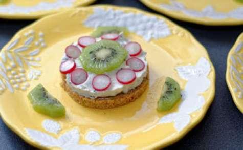 Petits cheese-cakes aux kiwis