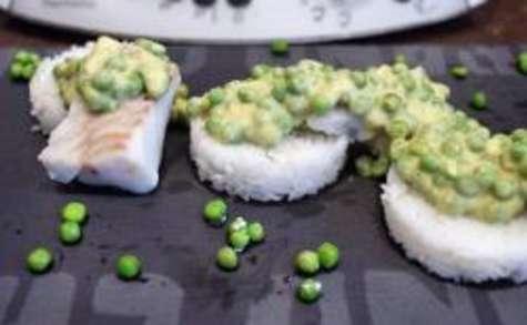 Curry de cabillaud aux petits pois avec son riz au thermomix facile et rapide