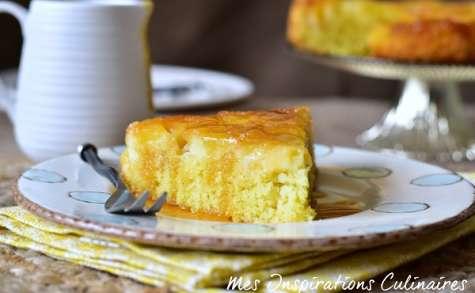 Gâteau moelleux aux pommes Renversé