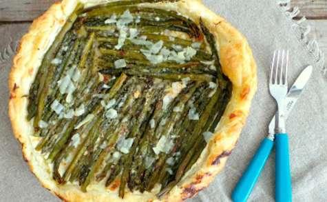 Tarte aux asperges et parmesan