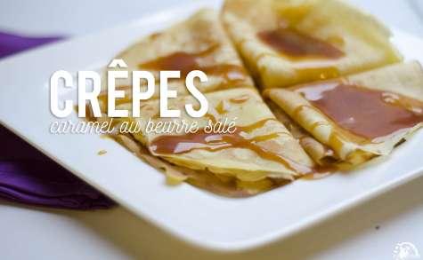 Crêpes au caramel beurre salé rapides et faciles à faire