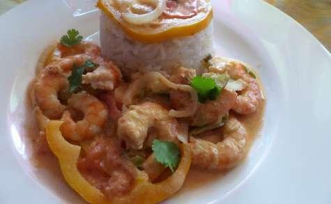 Ragoût de crevettes à la brésilienne