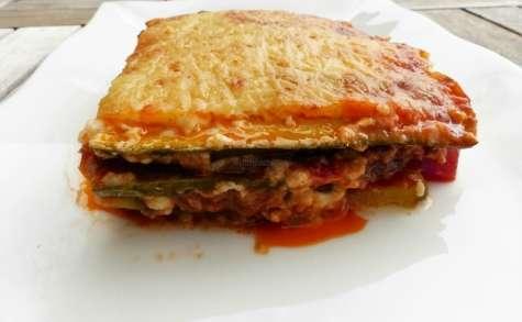 Lasagnes de courgette à la viande hachée