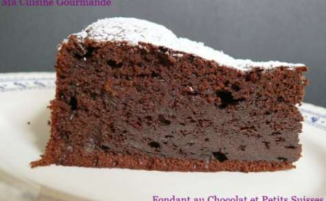 Fondant au chocolat et petits suisses sans beurre, sans huile