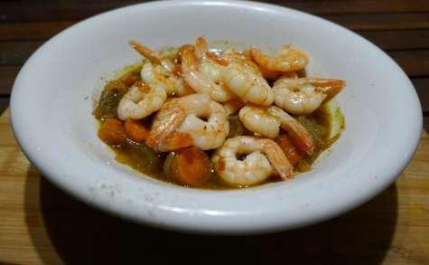 Nage de crevettes à la citronnelle et gingembre