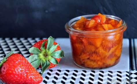 Confiture de mangues, fraises gariguette