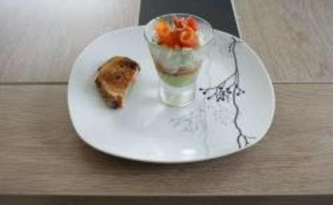 Verrines saumon, tartare, mousse d'avocat au thermomix facile et rapide