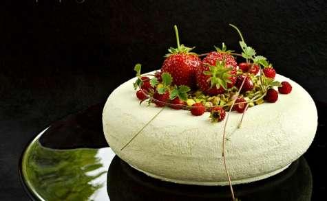 Entremets fraises / nougat