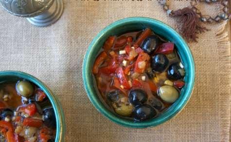 Olives marinées à la marocaine