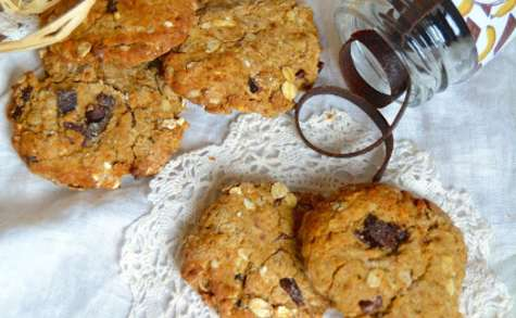 Cookies banane, cacao cru, beurre de cacahuètes et maca