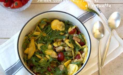 Salade de courgettes, tomates et roquette