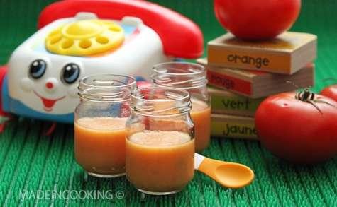 Purée de tomate et de pomme de terre - 10 mois