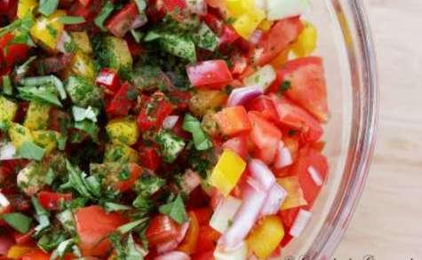 Salade d' été aux poivrons