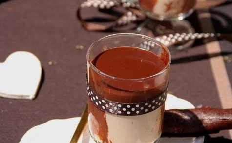 Panna cotta au baileys, coulis et cigarette au chocolat