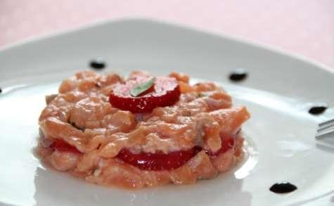 Tartare de saumon et fraises