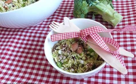 Taboulé de brocoli cru savoureux et gourmand