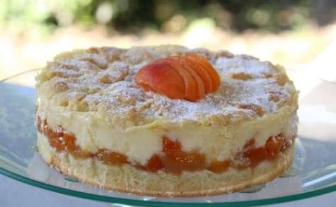 Gâteau sablé et son crémeux aux abricots