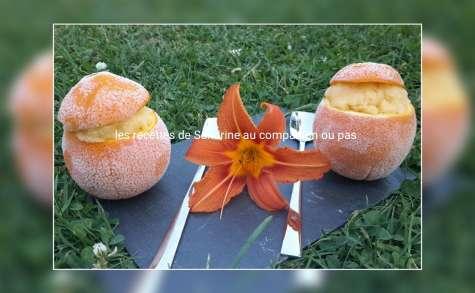 Orange givrée recette facile et rapide sans sorbetière