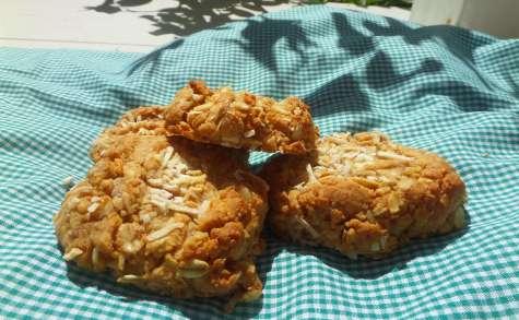 Cookies aux flocons d'avoine, beurre de cacahuète et noix de coco