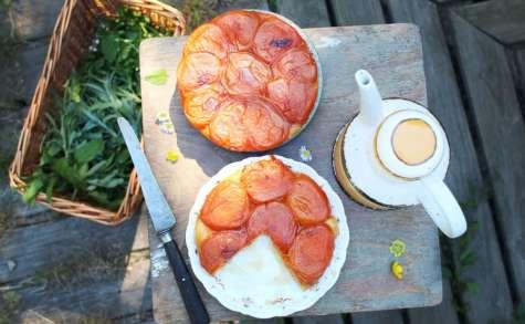 Tarte tatin aux abricots et à la mélisse