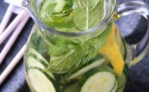 Eau aromatisée au concombre-citron-menthe, bio