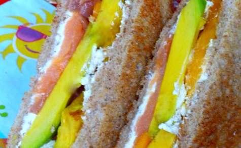 Sandwich comme un arc en ciel