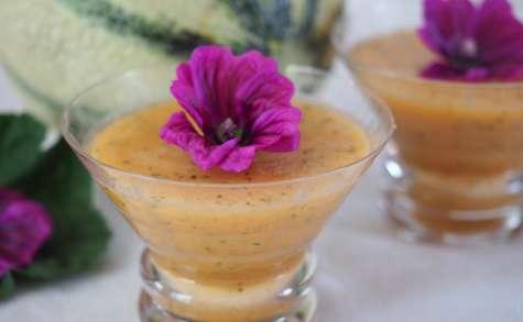 Soupe froide de melon-menthe très facile