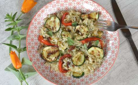 Risotto aux légumes d'été grillés