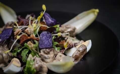 La salade de foies de volaille de Julien Roland