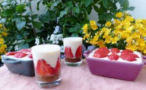 Tiramisu aux fraises, spéculoos et mascarpone