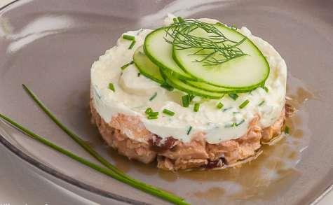 Saumon frais au saint marcellin et légumes d'été