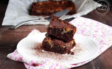 Brownie marbré au chocolat noir et chocolat blanc