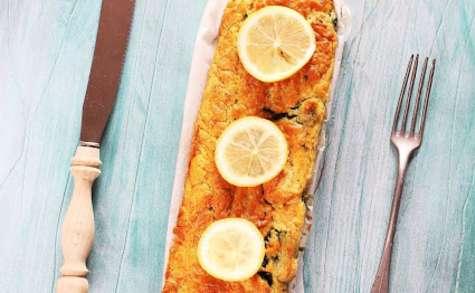 Cake au Saumon, Aneth, Citron et Epinards