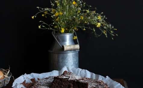 Fondant au Chocolat, Pomme de terre, Compote Pommes-Poires