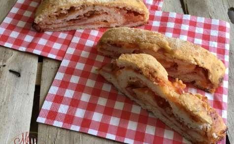 Pain «roulé-fourré» jambon mozzarella