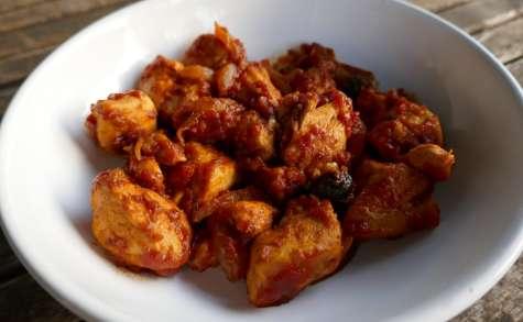 Ragoût de poulet à la tomate