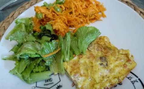 Omelette aux champignons et tomates
