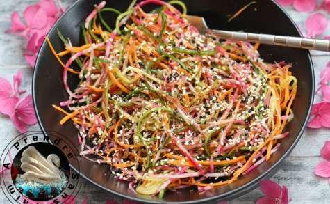 Salade spaghettis multicolore