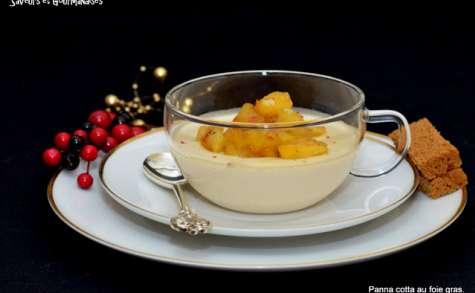 Panna Cotta au foie gras et pommes caramélisées